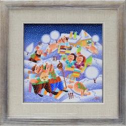 Коледари - картина от ЯНАКИЕВ