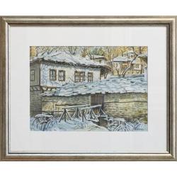 Зима в Боженци - акварел от ГАЛИНА