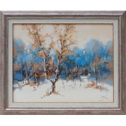 Импресия в бяло и синьо - картина от ТОМОВ