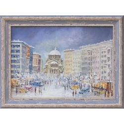 Зимна София - картина от Вили ГЕОРГИЕВ