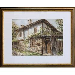 Къща в Боженци - акварел от ГАЛИНА