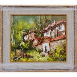 Родопска къща- картина от Лилия ПЕТКОВА