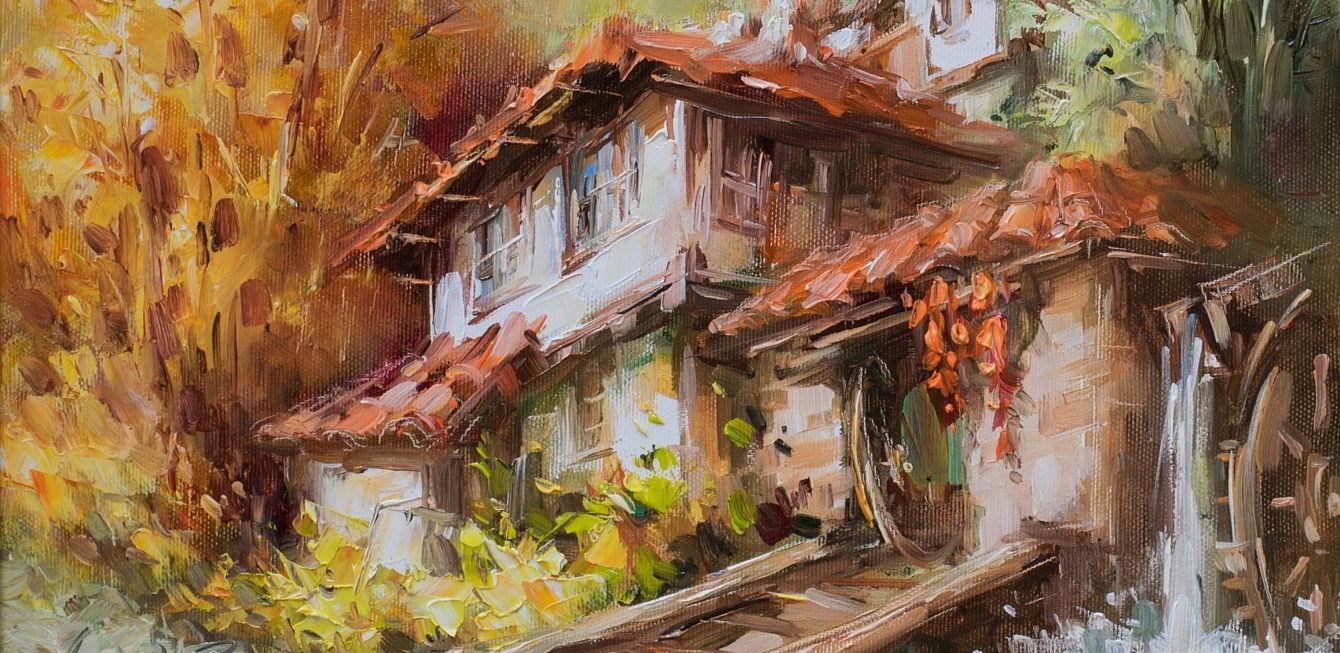 стари къщи и пейзажи